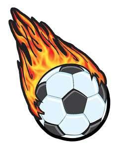 Flaming Soccer Ball Clipart - Clipart Kid