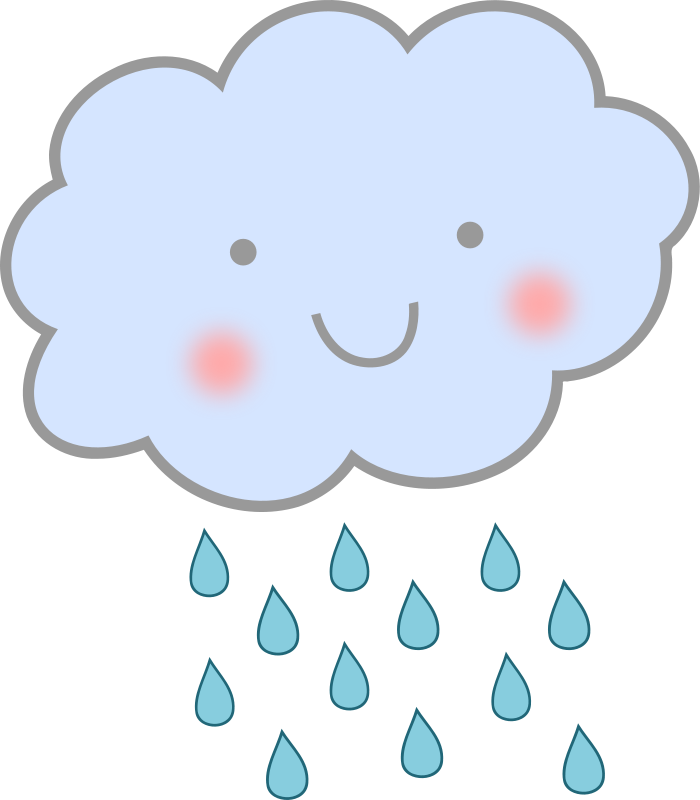 Free Cute Cartoon Rain Cloud Clip Art