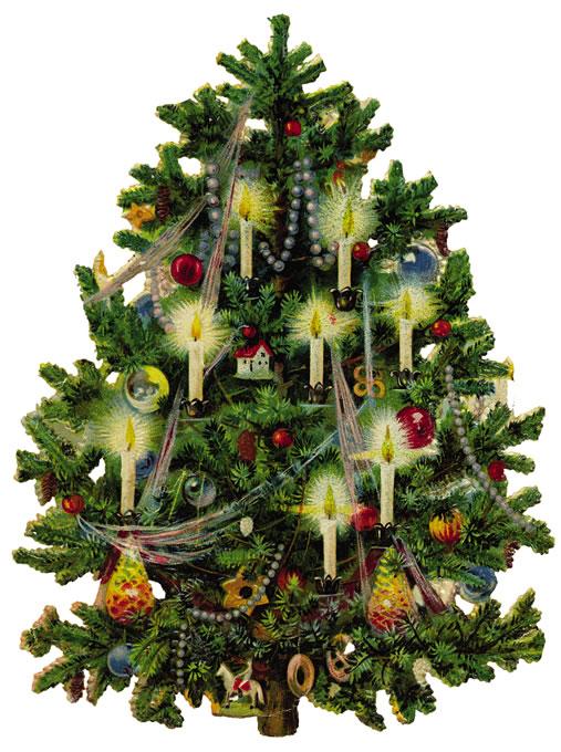 Free Vintage Clip Art   Vintage Christmas Tree