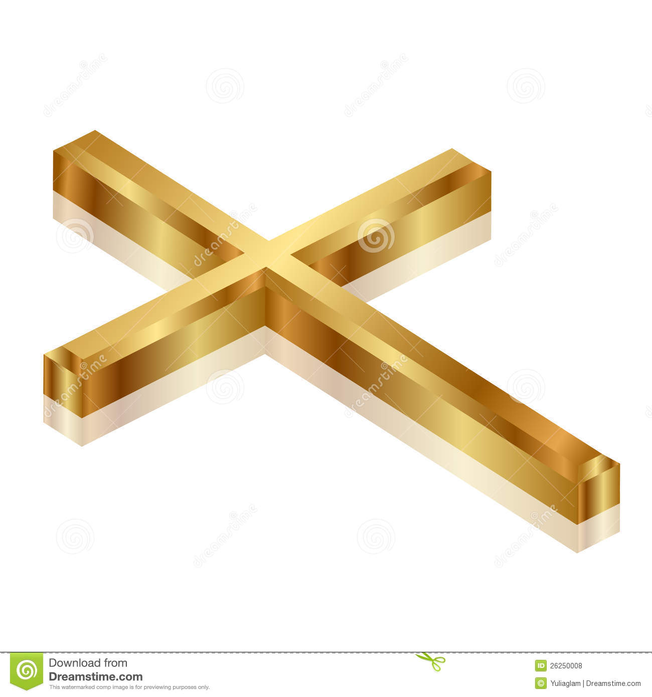Gold Cross Royalty Free Stock Photos   Image  26250008