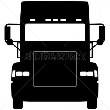 Heavy Truck Silhouette Front Vector Design Stock Vector   Clipart Me