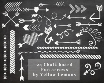 Instant Download  Chalk Board Arrows With A Fun Twist Png File Digital