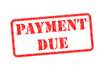 Payment Due   Payment Due Red Stamp Over A White Background
