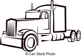 Simple Illustration With A Truck Drawing