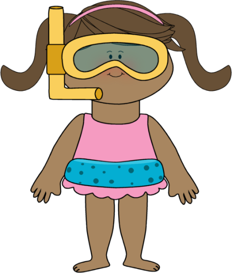 Girl Swimmer Clipart - Clipart Kid