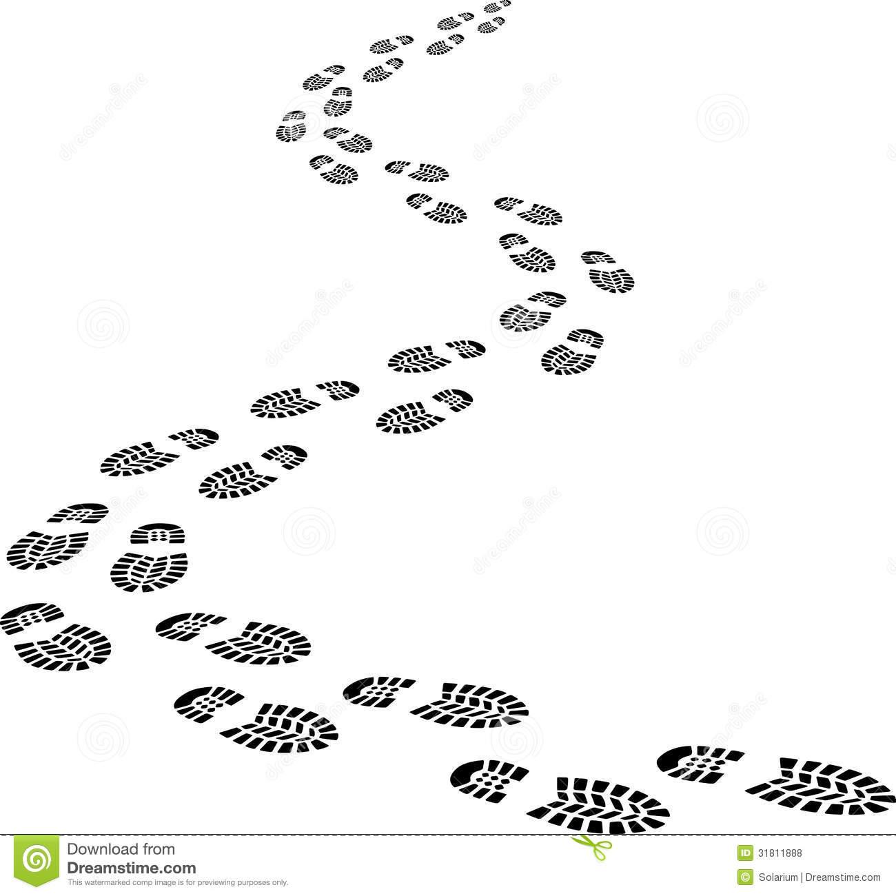 Walking Footprints Clipart - Clipart Kid