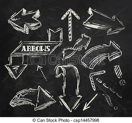 Vector   Arrow Stylized Drawing In Chalk   Stock Illustration Royalty