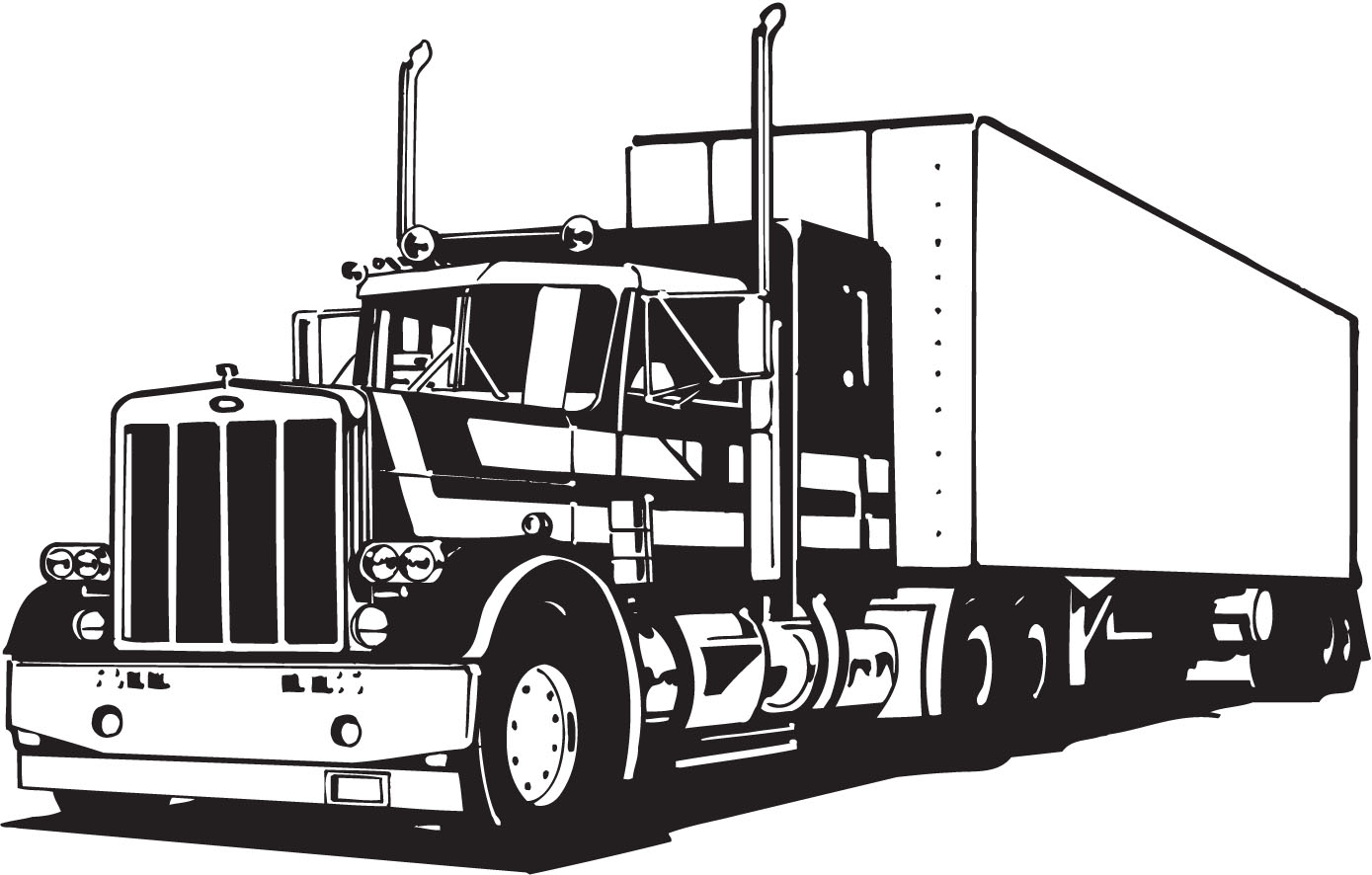 Vectorian Art  Truck Lineart Vectorfree Download Free Download Vector