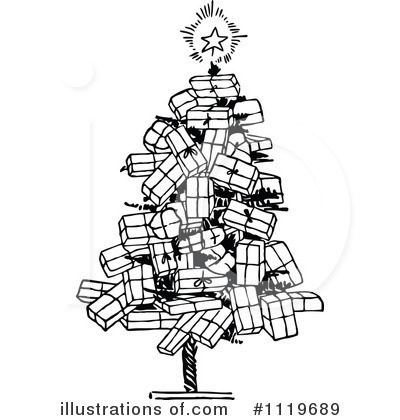 Vintage Christmas Tree Clipart Images   Pictures   Becuo
